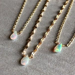 NWT OPAL 14k Gold Necklaces AAA+ Gemstone Quality